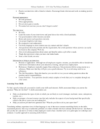 Military Resume For Civilian Job by After Military Handbook 2010