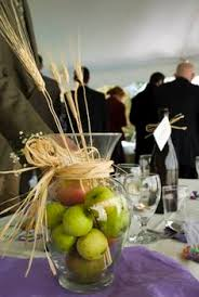 Apple Centerpiece Ideas by Rustic Chic Dickerson Maryland Wedding From Readyluck Wedding