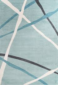 Modern Blue Rug Abstract Lines Rug Blue Floorsome