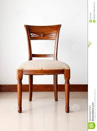 Wooden Chair A Wooden Chair With Soft Cushion Royalty Free Stock Photo Image
