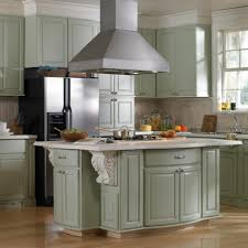 glittering kitchen island hood vents with large decorative wood