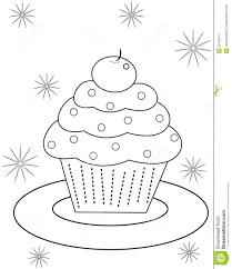 cupcake coloring page cupcake coloring page stock illustration image 50763373