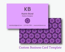 Purple Business Cards Cool Business Cards Etsy