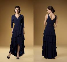 elegant dark navy blue mother of the bride dresses sleeves free
