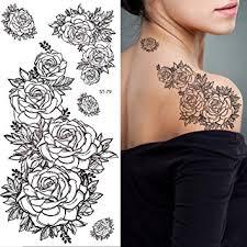amazon com supperb temporary tattoos black white