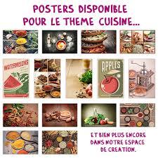 posters cuisine 30x45 brillant par format cm posters