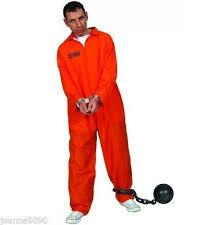 prison jumpsuit costume mens stag orange convict prisoner jumpsuit boiler suit fancy
