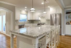 design ideas alaska white granite with white dining chairs and