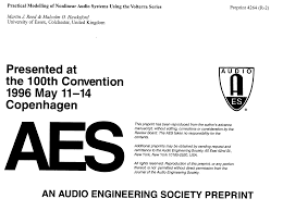 aes e library practical modeling of nonlinear audio systems