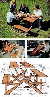 Plans For Outdoor Picnic Table by Best 25 Folding Picnic Table Ideas On Pinterest Outdoor Picnic