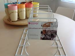 organizer pots and pans organizer for accommodate different sizes