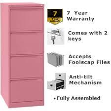 Pink Filing Cabinet 4 Drawer Steel Filing Cabinet Flush Front Pink Bisley Bs4e 1643