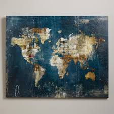 World Map Wall Decor by Zoey Riley World Market Newsprint Stamps And Sheet Music