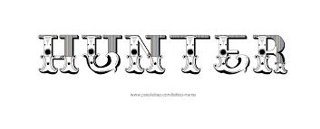 hunter name tattoo designs