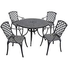 Black Cast Aluminum Patio Furniture Crosley Sedona 46