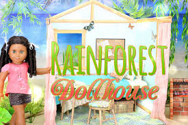 diy how to make american dollhouse rainforest house