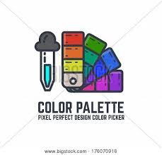 color picker palette thin line vector u0026 photo bigstock