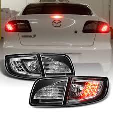mazda 3 tail lights black 2003 2008 mazda 3 mazda3 lumileds led tail lights brake ls