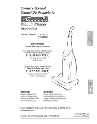 kenmore vacuum cleaner 116 35922 user guide manualsonline com
