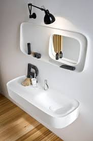 contemporary wall light bathroom glass led arm rexa design