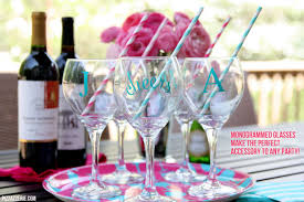 diy monogram wine glasses diy monogrammed glasses silhouette portrait giveaway