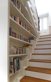 Built In Bookcase Kits Bookcase Built Into Stair Wall Love Entry Way Stairs