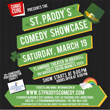 Lighthouse For The Blind Florida St Paddy U0027s Comedy Showcase Brickell Homeowners Association