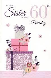 sister 60th birthday birthday card amazon co uk kitchen u0026 home