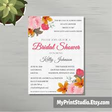 bridal shower invitation template invitation template floral bridal shower invitation template