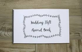 wedding gift book wedding gift record book