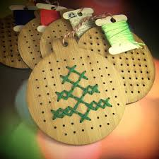 cross stitch ornament avant garland