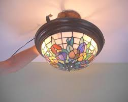Stained Glass Light Fixtures Stained Glass Light Etsy