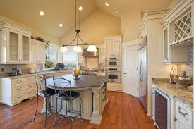 flush mount light on sloped ceiling kitchen cabinets with vaulted