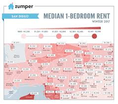 san diego rent prices mapped this winter february 2017