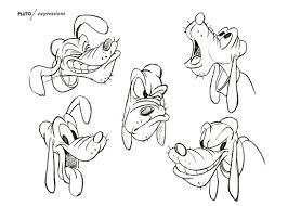 pluto u2013 model sheets traditional animation