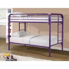 Metal Bunk Bed Frame Twin Over Twin Metal Bunk Bed In Purple