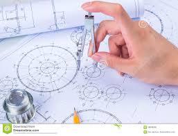 design engineer mechanical design engineer in drawing stock photo image 58088040