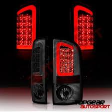 2003 dodge ram tail lights dodge ram 2500 2003 2006 smoked led tail lights tube a135smlz109