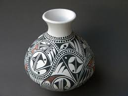 Black And Red Vase Two Tribes Pottery Art Work Handbuilt Handcoiled And Hand