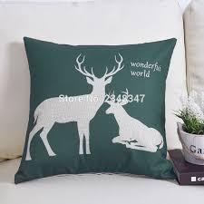 aliexpress com buy scandinavian nordic style deer elk geo linen