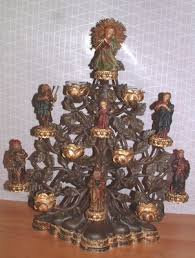 department 56 tree of nativity candle holder 7 figurines 4