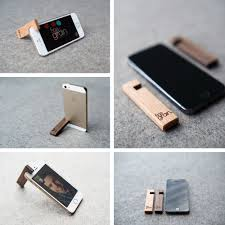 get inspired wooden iphone stand from finegrain lab get