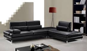 Black Modern Leather Sofa Living Room Modern Leather Sectional Couches White Leather