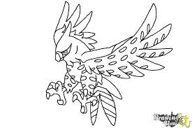 how to draw talonflame from pokemon x and y drawingnow