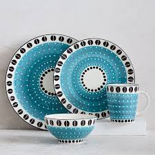 potter s workshop dinnerware set light blue west elm