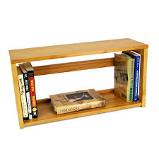 small bamboo stacking bookshelf storables