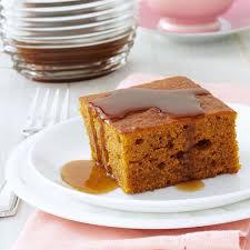 pumpkin cake with caramel sauce recipe taste of home