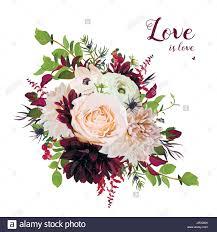 burgundy flowers flower airy wreath bouquet of pink garden
