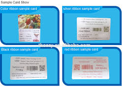 digital print color pvc business card smart card printing