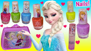 disney princess frozen nail polish set anna elsa olaf sparkle lip